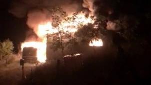 Geyve'deki yangın faciasının görüntüleri ortaya çıktı...